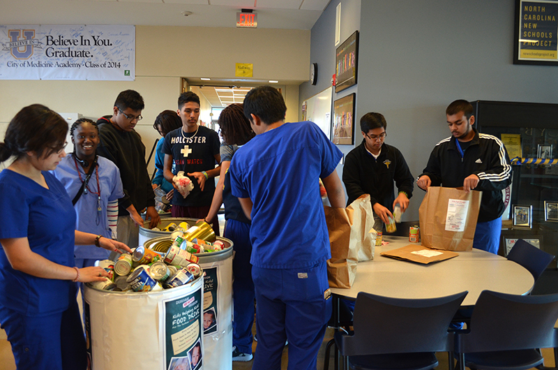 City Of Medicine Academy Food Drive 2013 Durham Rescue Mission