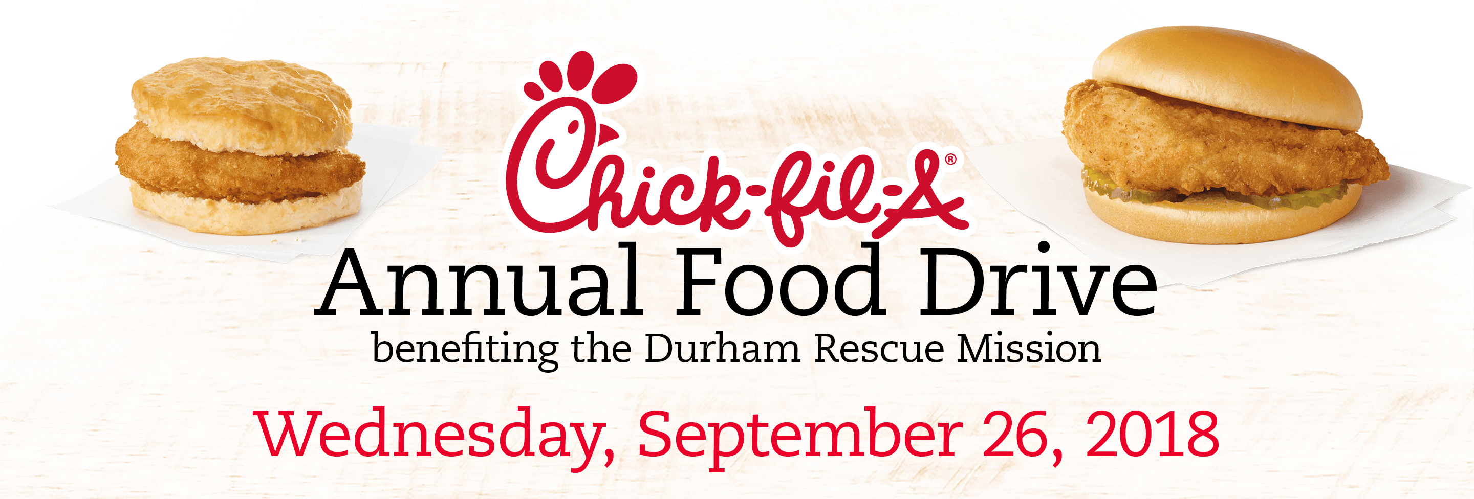 Chick Fil A Food Drive Benefitting Durham Rescue Mission